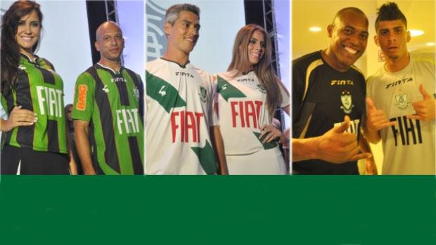 América-MG apresenta novos uniformes (Foto  Divulgação   Site Oficial do  América- 46ca90af42da1