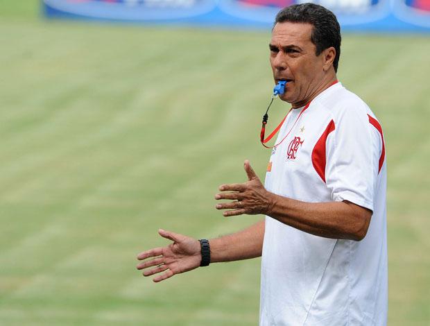 Vanderlei Luxemburgo no treino do Flamengo (Foto: Alexandre Vidal/Fla Imagem)