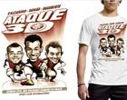 Trio ofensivo ganha camiseta personalizada (Divulgação)