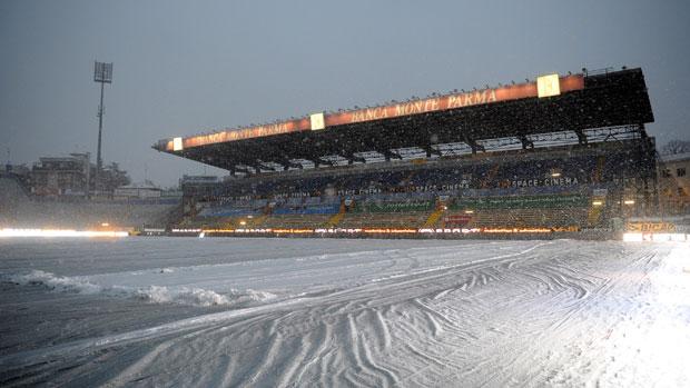Estádio Ennio Tardini, Parma x Juventus, neve (Foto: Getty Images)