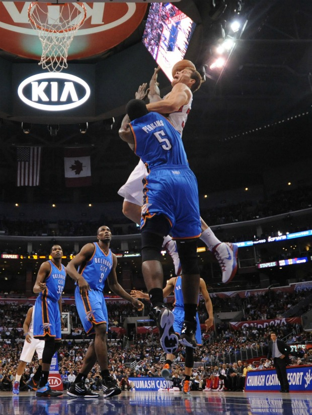 NBA Blake Griffin Clippers x Thunder (Foto: Getty Images)