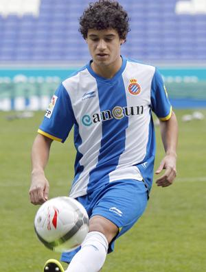 Phillippe Coutinho é apresentado no Espanyol (Foto: EFE)