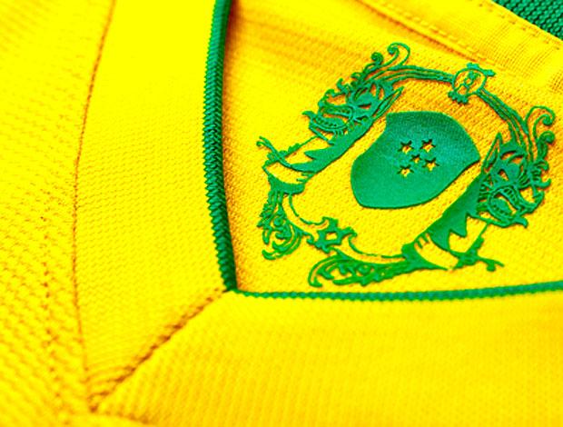 Detalhes da nova camisa da Seleção Brasileira (Foto: Nike / Divulgação)