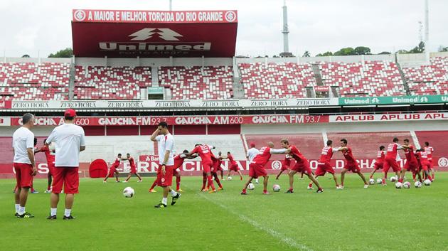 inter treino fechado gre-nal (Foto: Divulgação/Inter)