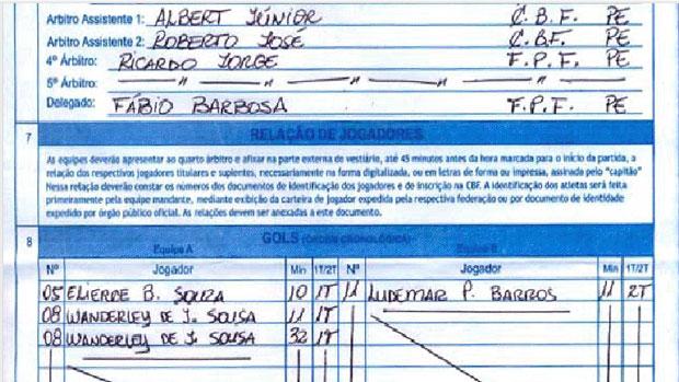 Súmula Náutico 3 x 1 Ypiranga-PE (Foto: Divulgação / FPF)