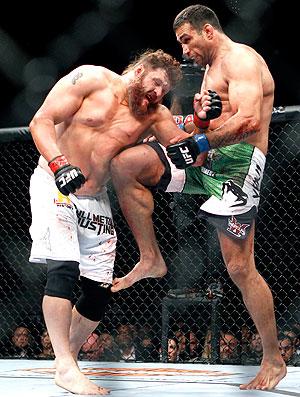 Fabricio Werdum na luta contra Roy Nelson no UFC (Foto: AP)