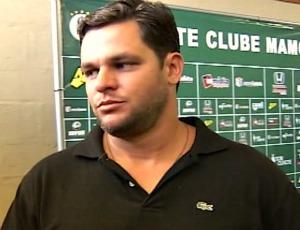 Erick Moura, técnico do Mamoré, de Patos de Minas (Foto: Reprodução/ TV Integração)