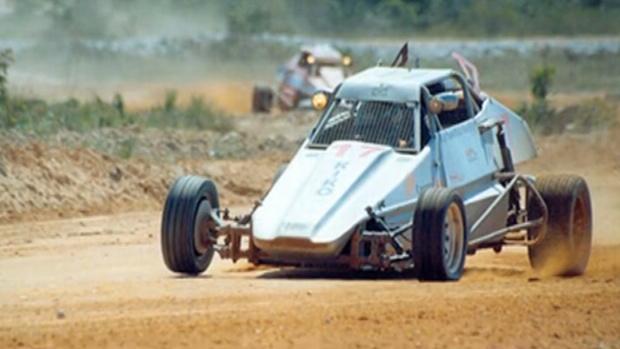 Carro de Luiz Razia no começo de carreira (Foto: Arquivo Pessoal)