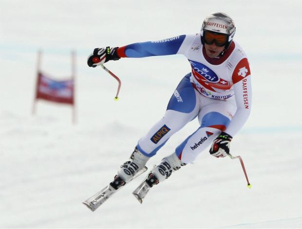 esqui Beat Feuz downhill Copa do Mundo de Sochi (Foto: Reuters)