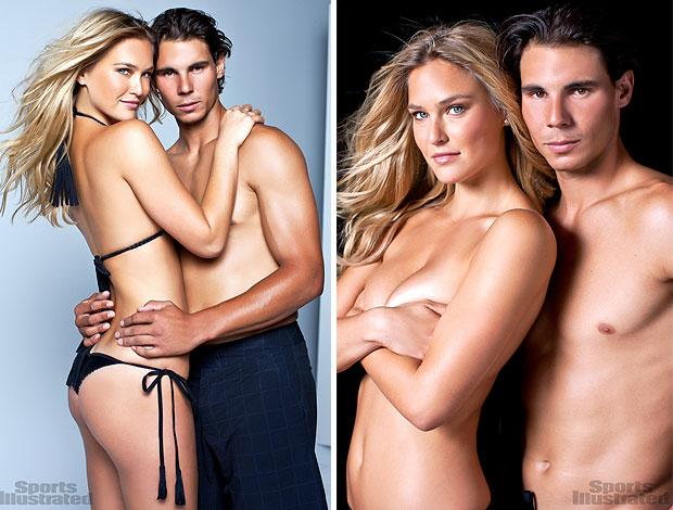 Rafael Nadal posa com a modelo Bar Rafaeli (Foto: Reprodução / Sports Illustrated)