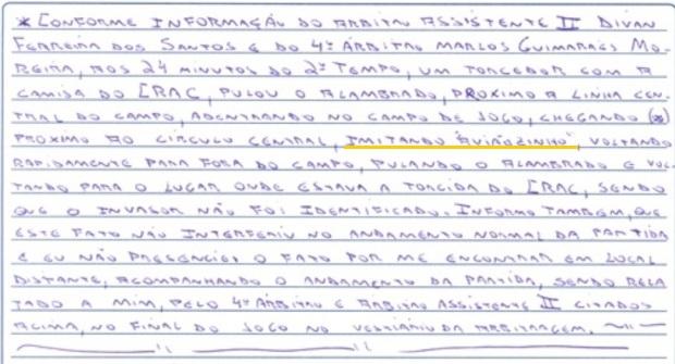 André Luiz Castro relata invasão de torcedor imitanto 'aviãozinho' (Foto: Divulgação / FGF)