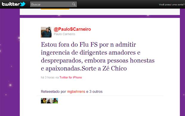twitter paulo carneiro (Foto: Reprodução/TV Bahia)