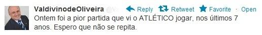 Valdivino de Oliveira, presidente do Atlético-GO, reclama de atuação da equipe (Foto: Divulgação)