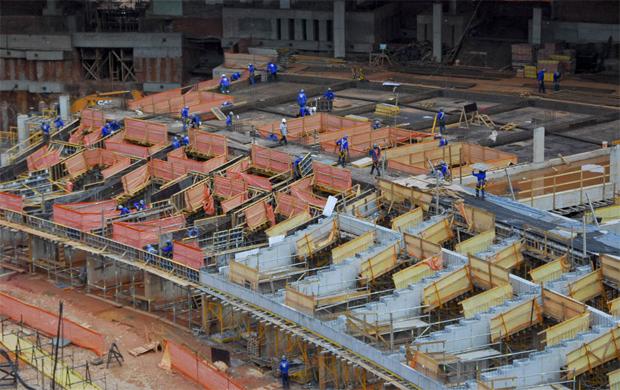 Estrutura da futura arquibancada do Mineirão - 1 (Foto: Sylvio Coutinho / Divulgação / Secopa)