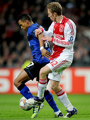 Nani no jogo do Manchester United contra o Ajax (Foto: Getty Images)