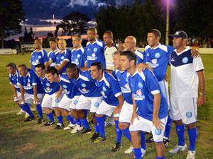 Time de Zico em Paraguaçu, MG (Foto: Tiago Campos /Globoesporte.com)