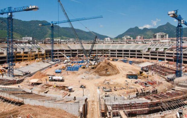 Obras do Maracanã em fevereiro, 35% (Foto: Consórcio Maracanã Rio 2014/Divulgação)