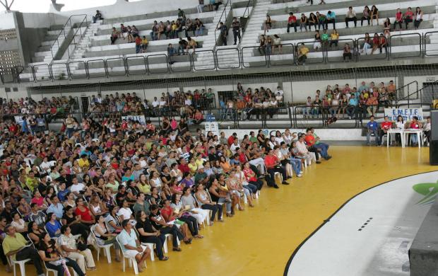 Ginásio Aécio de Borba em Fortaleza (Foto: Miguel Portela/Agência Diário)