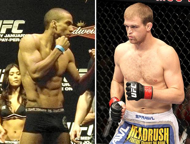 montagem UFC Edson Barboza x Evan Dunham (Foto: Editoria de Arte / GLOBOESPORTE.COM)