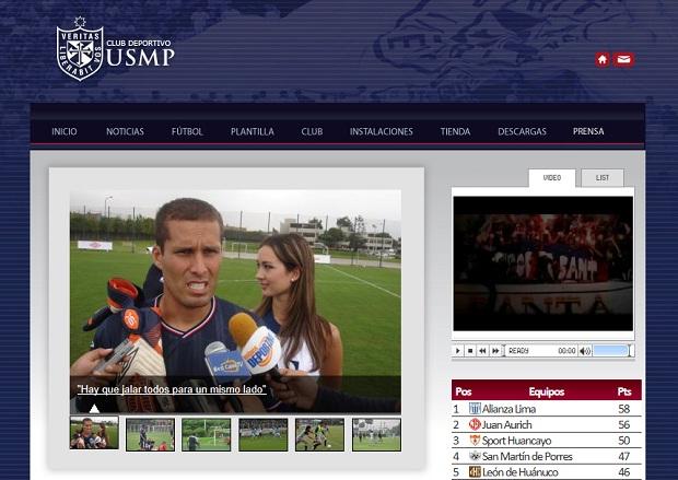 Site oficial do San Martin (Foto: Reprodução / Site oficial)