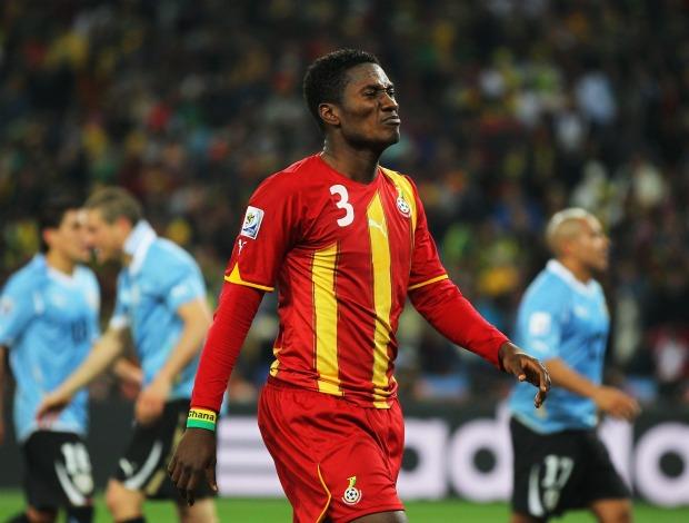 Asamoah Gyan Gana Uruguai (Foto: Getty Images)