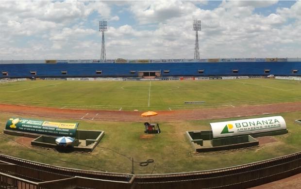 Estádio Douradão, em Dourados (Foto: Reprodução/TV Morena)