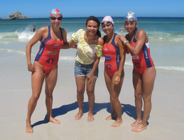 Triatlo Rápido feminino Andrea Longueira Damiris Alexandre Paula Contreras e Evelyn Muñoz (Foto: Ana Carolina Fontes/Globoesporte.com)