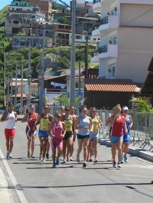 Triatlo Rápido feminino corrida treino (Foto: Ana Carolina Fontes/Globoesporte.com)