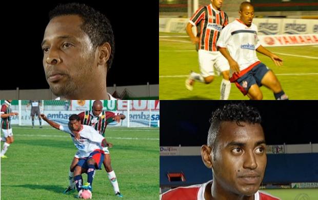 Em sentido horário: Toledo, carlinhos, Keverson e João Neto (Foto: Arte/Globoesporte.com)
