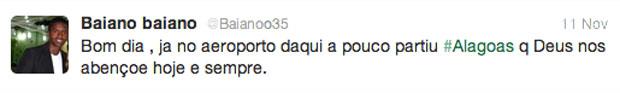 Jorbison twitter Alagoas reprodução (Foto: Reprodução / Twitter)