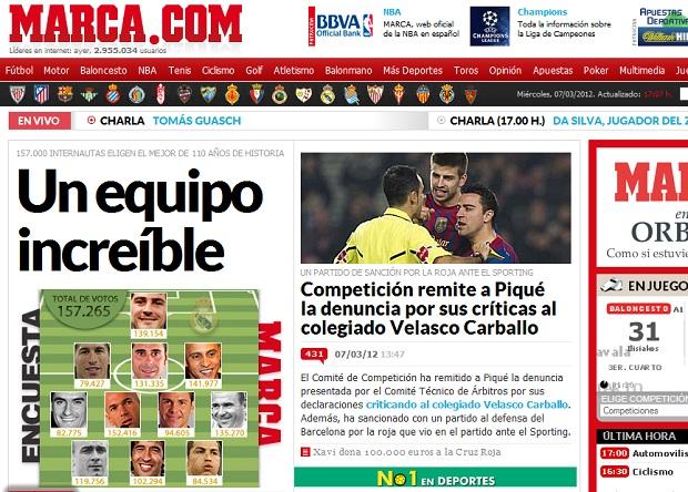 Seleção ideal do Real Madrid segundo enquete do jornal Marca (Foto: Reprodução)