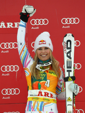 esqui Lindsey Vonn Copa do Mundo de Are (Foto: ap)