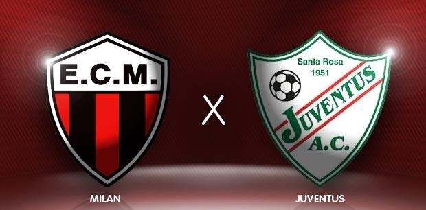Confronto Milan RS x Juventus RS (Foto: divulgação site oficial do juventus-RS)