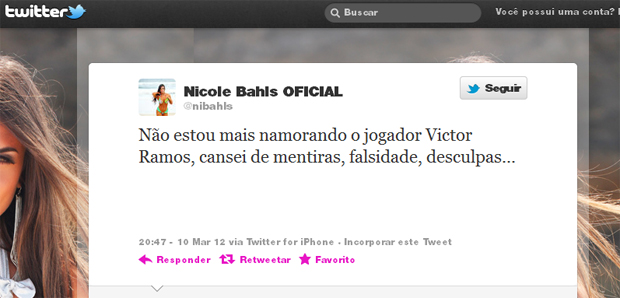 Nicole Bahls Twitter (Foto: Reprodução / Twitter)