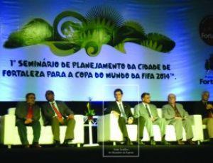 Seminário da Fifa em Fortaleza - campanha tatu-bola (Foto: Divulgação/Associação Caatinga)