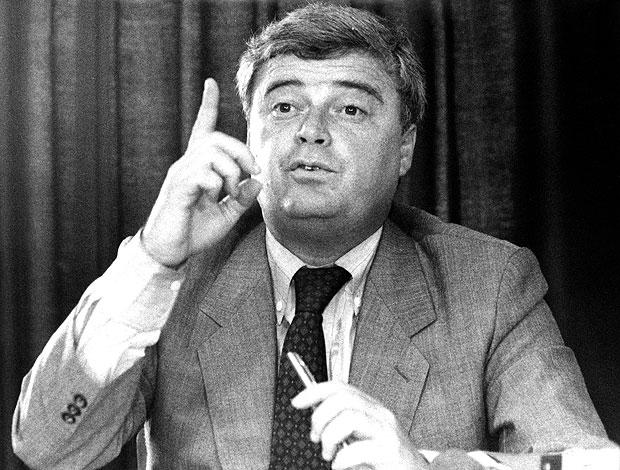 Ricardo Teixeira durante entrevista em 1989 (Foto: Arquivo / Ag. Estado)
