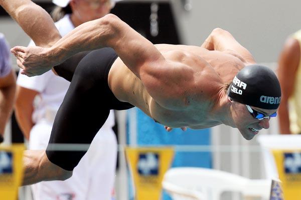 Cielo nas eliminatórias do Campeonato Sul-americano de natação (Foto: agif)