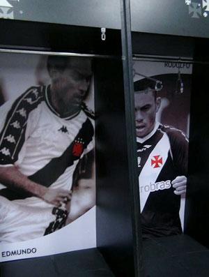 Armário do Edmundo (Foto: Divulgação / Site Oficial do Vasco)