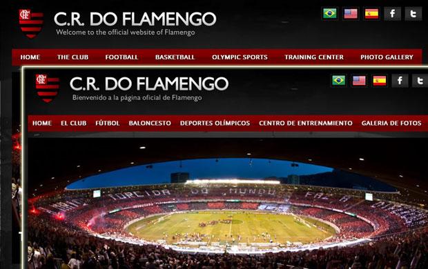 site flamengo (Foto: Reprodução/Site Oficial Flamengo)