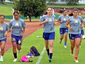 Meninas do Serra encaram no jogo de volta o Iguaçú pela Copa do Brasil (Foto: Reprodução/TVCA)