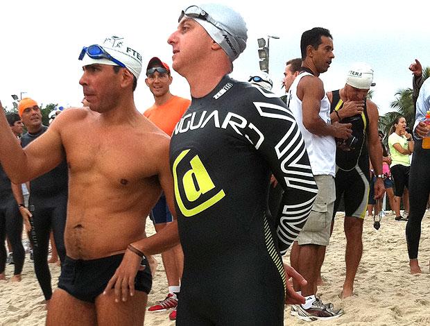 Luciano Huck participa de prova de triatlo no Rio de Janeiro (Foto: Livia Faria / TV Globo)