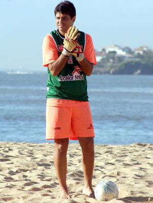 Pierre, goleiro de futebol de areia (Foto: Divulgação/Pauta Livre)