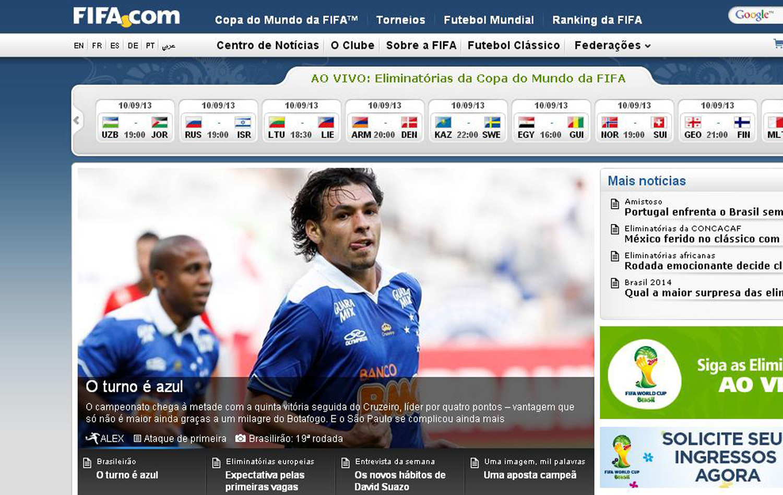 7867d619910ac Fifa destaca campanha do Cruzeiro e discurso cauteloso de Marcelo Oliveira