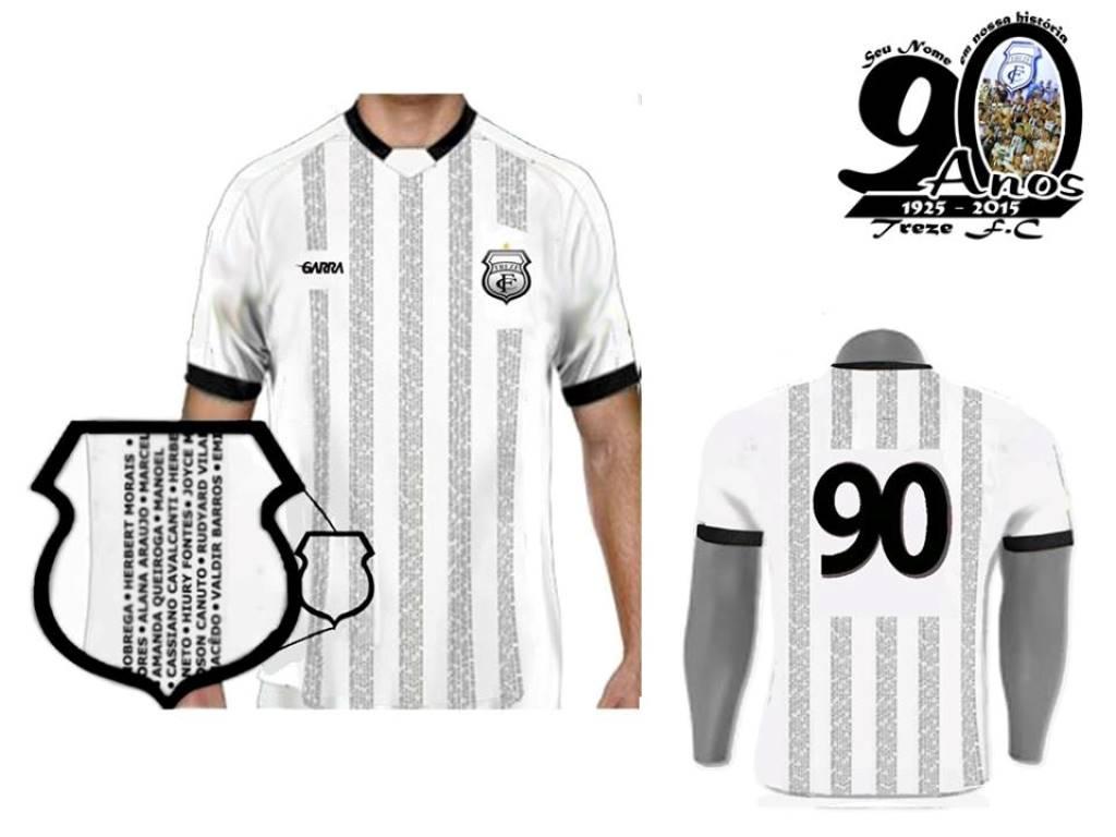 Treze vai colocar nome dos torcedores em camisa comemorativa aos 90 anos  574ea5a10cf71