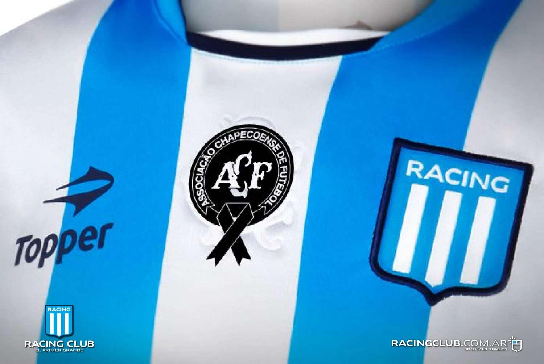Racing e Huracán usarão escudo da Chapecoense em camisa no Argentino 13304e8aaf2c9