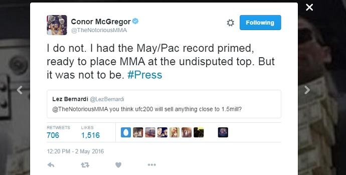 BLOG: McGregor não para de provocar Diaz, e diz que UFC 200 não baterá recorde