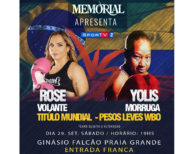 BLOG: Com transmissão pela TV, Rose colocará o título em jogo frente a Morruga