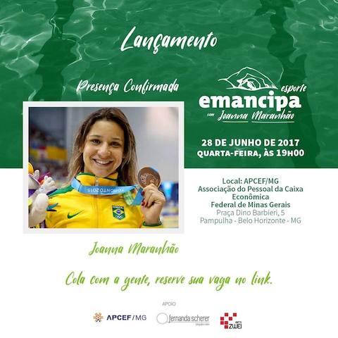BLOG: Joanna Maranhão lança hoje o Emancipa Esportes
