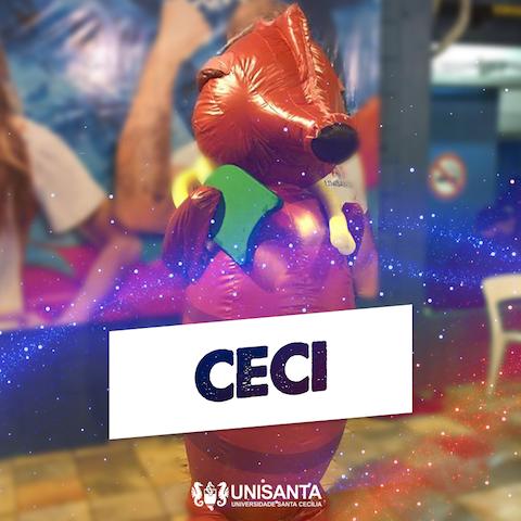 BLOG: Unisanta apresenta seu mascote e com nome: Ceci!