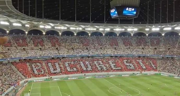 BLOG: Trollagem mítica: fãs do Dínamo sabotam mosaico do rival Steaua contra o City